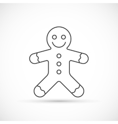 Gingerbread thin line icon vector image vector image