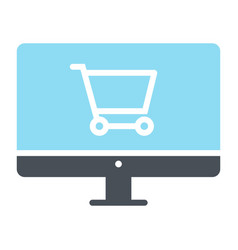 online shopping silhouette icon minimal pictogram vector image