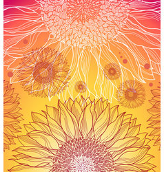 summer flower background vector image vector image