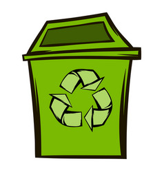 trash can recycling eco symbol vector image vector image