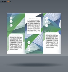 Abstract print a4 design in 3 parts vector