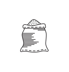 bag with flour vector image