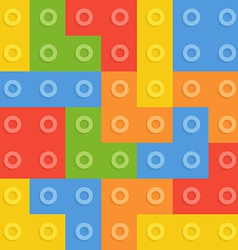 Color constructor blocks seamless pattern vector image