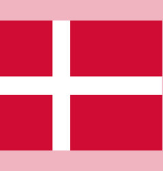 colored flag of denmark vector image vector image