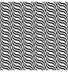 Design seamless monochrome waving pattern vector image