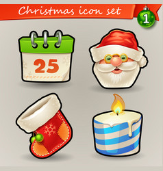funny christmas icons-1 vector image vector image