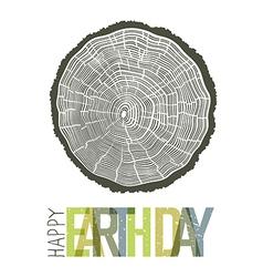 Happy Earth Day Design Concept Tree rings symbolic vector image vector image