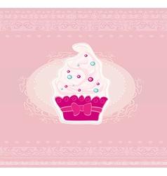 Lovely Cupcake Design vector image