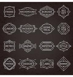 Modern Hipster Frames Borders Labels vector image vector image
