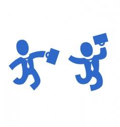 pictogram businessman vector image vector image
