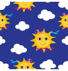sun pattern vector image