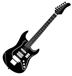 Classic electro guitar silhouette vector
