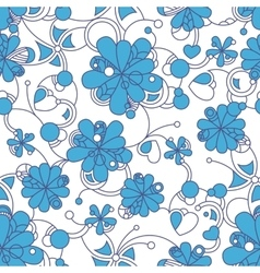 Floral seamless background pattern for continuous vector image vector image