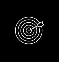 target keyword line icon vector image vector image