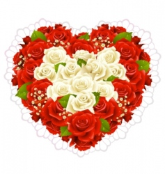 bunch roses vector image vector image