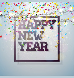 happy new year 2018 with vector image vector image