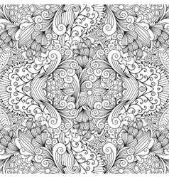 Seamless textile pattern with decorative shapes vector image vector image