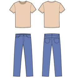 T-shirt and jeans vector image vector image