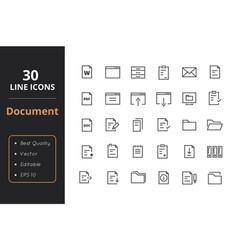 30 document line icon vector image