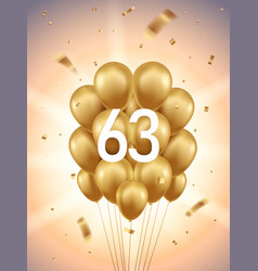 63rd year anniversary background vector