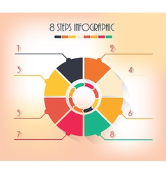 8 steps infographic vector