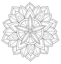 adult coloring bookpage a zen mandala image vector image