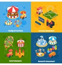 Amusement Park Isometric vector image