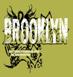 art design with models brooklyn vector image