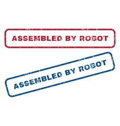 Assembled by robot rubber stamps vector