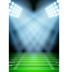 Background for posters night football stadium in vector image