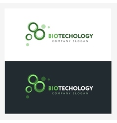 Biotechnology logo design template with abstract vector image