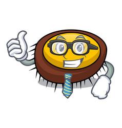 Businessman sea urchin character cartoon vector
