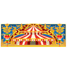 Carnival banner with vintage circus vector