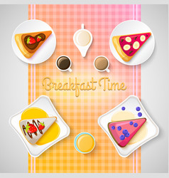 Colorful sweet time concept vector