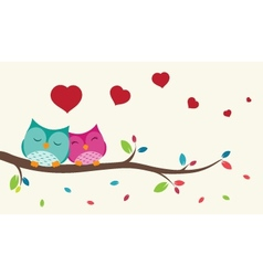 Couple of birds in love vector image