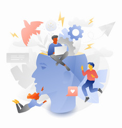 Creativity and new ideas tiny entrepreneurs vector