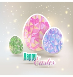 Easter eggs with geometric elements vector