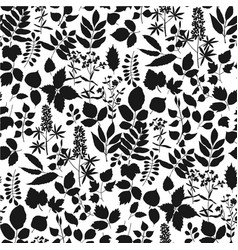 Europe forest leaves simple seamless pattern vector