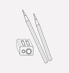 eye pen icon line element of vector image