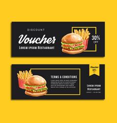 Fast food gif voucher discount order menu vector