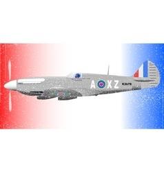 Fighterplane Grunge Effect vector image