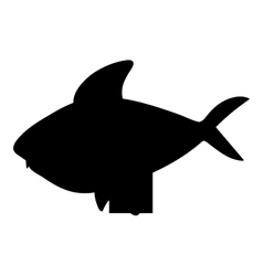 fish cartoon silhouette icon image vector image