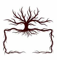 frame with a tree vector image