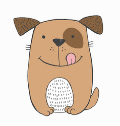 Funny toy puppy vector