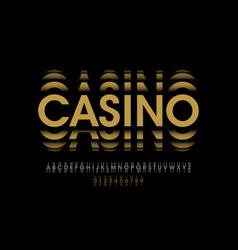 gambling roulette style font design alphabet vector image