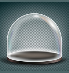 Glass dome exhibition design element vector
