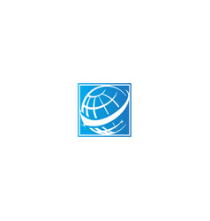 globe earth science logo vector image