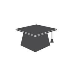 graduates cap icon for web business finance vector image
