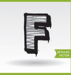 graffiti alphabet highly detailed font vector image