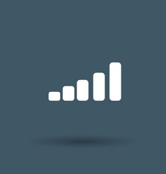 graph icon on white background vector image